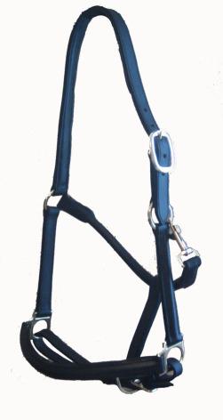Lädergrimma Svart